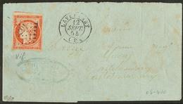 LETTRE No 5, Un Voisin, Obl Pc 1676 Sur Lettre Légèrement Incomplète De Lavelanet 12 Sept 54. - TB - 1849-1850 Ceres