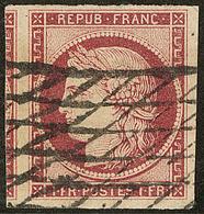 No 6, Un Voisin, Obl Grille Sans Fin, Jolie Pièce. - TB - 1849-1850 Ceres