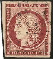 No 6, Obl Gros Points, Un Voisin, Jolie Pièce. - TB. - R - 1849-1850 Ceres