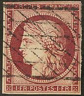 No 6, Obl Grille Sans Fin, Petites Marges Mais Filets Intacts. - TB - 1849-1850 Ceres