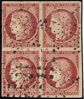 No 6, Bloc De Quatre Obl étoile. - TB. - RR - 1849-1850 Ceres