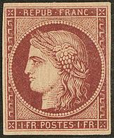 * No 6b, Carmin Brun, Très Frais. - TB. - RR - 1849-1850 Ceres