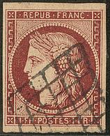 No 6b, Obl Grille, Jolie Pièce. - TB. - R - 1849-1850 Ceres