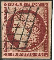 No 6b, Nuance Foncée, Fente En Marge Touchant Le Timbre, TB D'aspect - 1849-1850 Ceres