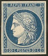 * No 8c, Bleu Foncé, Superbe. - R - 1849-1850 Ceres