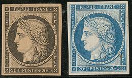 * Réimpression. Nos 3k (*), 8d Aminci, TB D'aspect - 1849-1850 Ceres