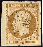No 9, Bistre, Obl Pc 33, Superbe. - R - 1852 Louis-Napoleon