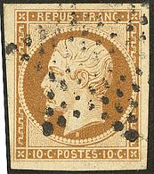 No 9b, Bistre-brun, Obl étoile, Jolie Pièce. - TB - 1852 Louis-Napoleon