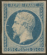 (*) No 10, Bleu, Réparé, B D'aspect - 1852 Louis-Napoleon