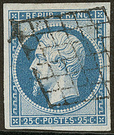 No 10, Obl Grille. - TB - 1852 Louis-Napoleon