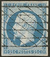 No 10, Obl Grille Sans Fin. - TB - 1852 Louis-Napoleon