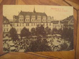 NAUMBURG Marktplatz Mit Rathaus Post Card Saxony Anhalt Saale Burgenlandkreis Germany - Naumburg (Saale)