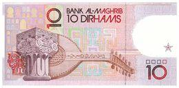 MAROCCO - 10 DIRHAMS - BANK AL MAGHRIB - FIOR DI STAMPA - CARTAMONETA - PAPER MONEY - Maroc