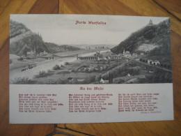 PORTA WESTFALICA An Der Wefer Wittekindsberg Post Card North Rhine Westphalia Detmold Minden Lubbecke Germany - Porta Westfalica