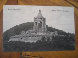 PORTA WESTFALICA Kaiser Wilhelm Denkmal Wittekindsberg Post Card North Rhine Westphalia Detmold Minden Lubbecke Germany - Porta Westfalica