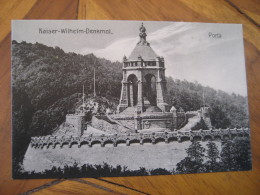 PORTA WESTFALICA Kaiser Wilhelm Denkmal Post Card North Rhine Westphalia Detmold Minden Lubbecke Germany - Porta Westfalica