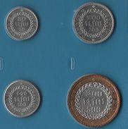 CAMBODIA SET 4 MONNAIES 50 RIELS - 500 RIELS  1994 - Cambodia