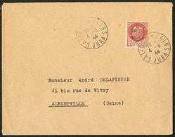 LETTRE Salins. No 2, Surcharge Droite, Sur Enveloppe Du 4.9.44 Pour Alfortville. - TB (tirage 175) - Liberation