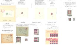 ** Type Marianne à La Nef 1959-1960, Belle étude Des N°1216, 1229 Et 1234, Dont Poinçons D'atelier, épreuves D'artistes, - Collections