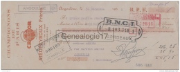 16 1518 ANGOULEME CHARENTE 1935 Champignons De Paris RIEUPEYROUX FRERES Marque CRYPDOR Rue Du Gond A ARBONA De Joinville - Letras De Cambio
