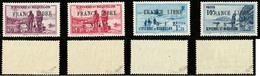 ** France-Libre. Non émis. Nos 281A, 281B, 281C Et 281D, Cases 5, Superbes Et Seules Pièces Connues. - RRR (cote Maury 2 - St.Pierre & Miquelon