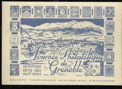 3 Cartes Consacrée à La Journée Philatélique De Grenoble En 33 - France