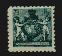 Liechtenstein 1921 Michel 49 A *, Landeswappen Ungebraucht (M€ 260,-) - Liechtenstein