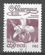 Nicaragua 1983. Scott #1219 (U) Sobralia Macrantha, Fleurs, Flowers - Nicaragua