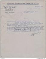 59 3822 MALO LES BAINS NORD 1936 CAFE CENTRAL Des Ets H. VIALLA Place Turenne BIERES DE LUTTERBACH Biere - France