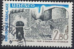 France 1983 Oblitéré Used Unesco Sites à Protéger Turquie Istanbul Mur D'enceinte Intérieur Y&T 76 SU - Frankreich