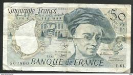 FRANCE  =  1 BILLET  DE 50 FRANCS DE 1991 - 1962-1997 ''Francs''