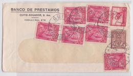 EQUATEUR - ECUADOR - STAMP COVER MAIL BANCO DE PRESTAMOS 1942 - ENVELOPPE COMMERCIALE BANQUE QUITO TIMBRE - Equateur
