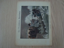 COUVERTURE DE CAHIER LES FRONTIERES MARITIMES BOULOGNE NAPOLEON - Book Covers