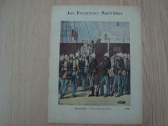 COUVERTURE DE CAHIER LES FRONTIERES MARITIMES ROCHEFORT EMBARQUEMENT DE TROUPES - Book Covers