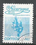 Nicaragua 1983. Scott #1220 (U) Stachytarpheta Indica, Fleurs, Flowers - Nicaragua