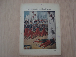 COUVERTURE DE CAHIER LES FRONTIERES MARITIMES ALGER ENTREE DES FRANCAIS - Book Covers