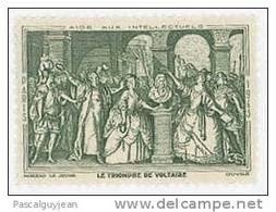 VIGNETTE AIDE AUX INTELLECTUELS - LE TRIOMPHE DE VOLTAIRE - Commemorative Labels
