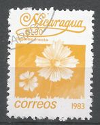 Nicaragua 1983. Scott #1222 (U) Tagetes Erecta, Fleurs, Flowers - Nicaragua