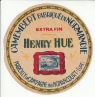Etiquette De Fromage Camembert - Henry Hue - Marcilly La Campagne Par Nonancourt - Eure - Imp. A. Grange. - Fromage