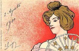 [DC11253] CPA - MEUNIER - ART NOUVEAU - PERFETTA - Viaggiata 1900 - Old Postcard - Meunier, G.