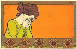 [DC11255] CPA - MEUNIER HENRI - ART NOUVEAU - FEMMES ET FLEURS - PERFETTA - Non Viaggiata - Old Postcard - Meunier, G.