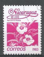 Nicaragua 1983. Scott #1223 (U) Tecoma Stans, Fleurs, Flowers - Nicaragua