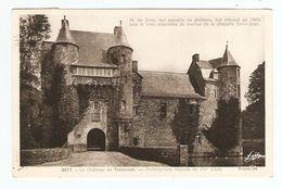 56 - CAMPÉNÉAC CHATEAU DE TRÉCESSON FÉODALE DU XV ème SIECLE MONSIEUR DE SIVRY INHUMÉ EN 1803 - PAIMPONT 28 AOUT 1951 - France