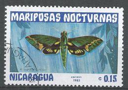 Nicaragua 1983. Scott #1230 (U) Xilophanes Chiron, Butterfly, Papillon - Nicaragua