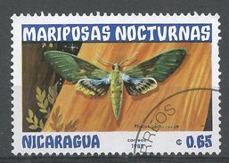 Nicaragua 1983. Scott #1232 (U) Pholus Lasbruscae, Butterfly, Papillon - Nicaragua