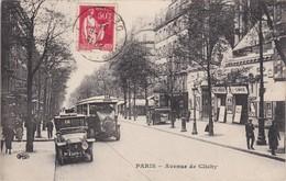 PARIS - Avenue De Clichy - Autobus Et Voiture - TBE - Transport Urbain En Surface