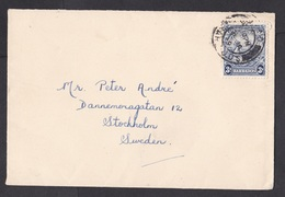 Barbados: Cover To Sweden, 1949, 1 Stamp, Horse, Mythology (traces Of Use) - Barbados (1966-...)