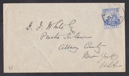 Barbados: Cover To USA, 1912, 1 Stamp, Horse, Mythology (minor Damage, See Scan) - Barbados (1966-...)
