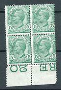 Italia Regno 1906 5 Lire Verde MNH** - 1900-44 Victor Emmanuel III