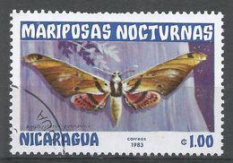 Nicaragua 1983. Scott #1233 (U) Amphypterus Gannascus, Butterfly, Papillon - Nicaragua